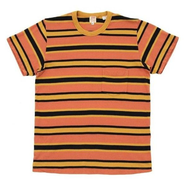 2 Levi S Vintage 1960s Stripe Tee Golden Glow Men S T Shirt Liked On Polyvore F Striped Shirt Men Outfits With Striped Shirts Mens Designer Shirts
