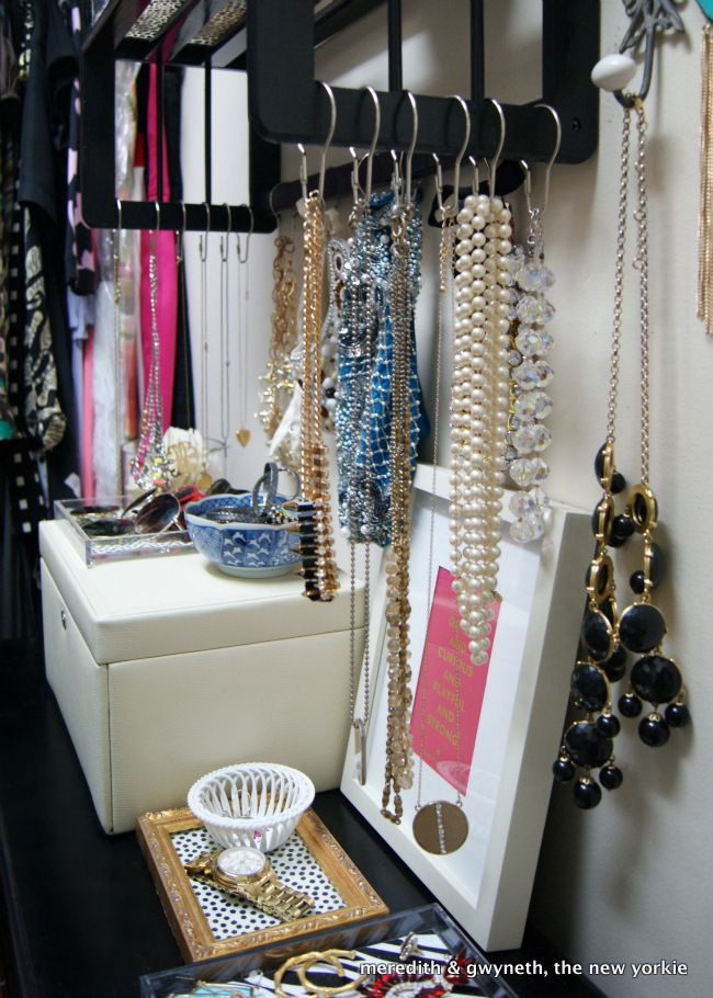 DIY Closet Accessories Storage Shower Hooks To Hang Your Neckalces Bracelets Want