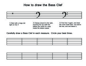 How To Draw A Treble Clef Worksheet: draw a treble clef worksheet google search music pinterest ,