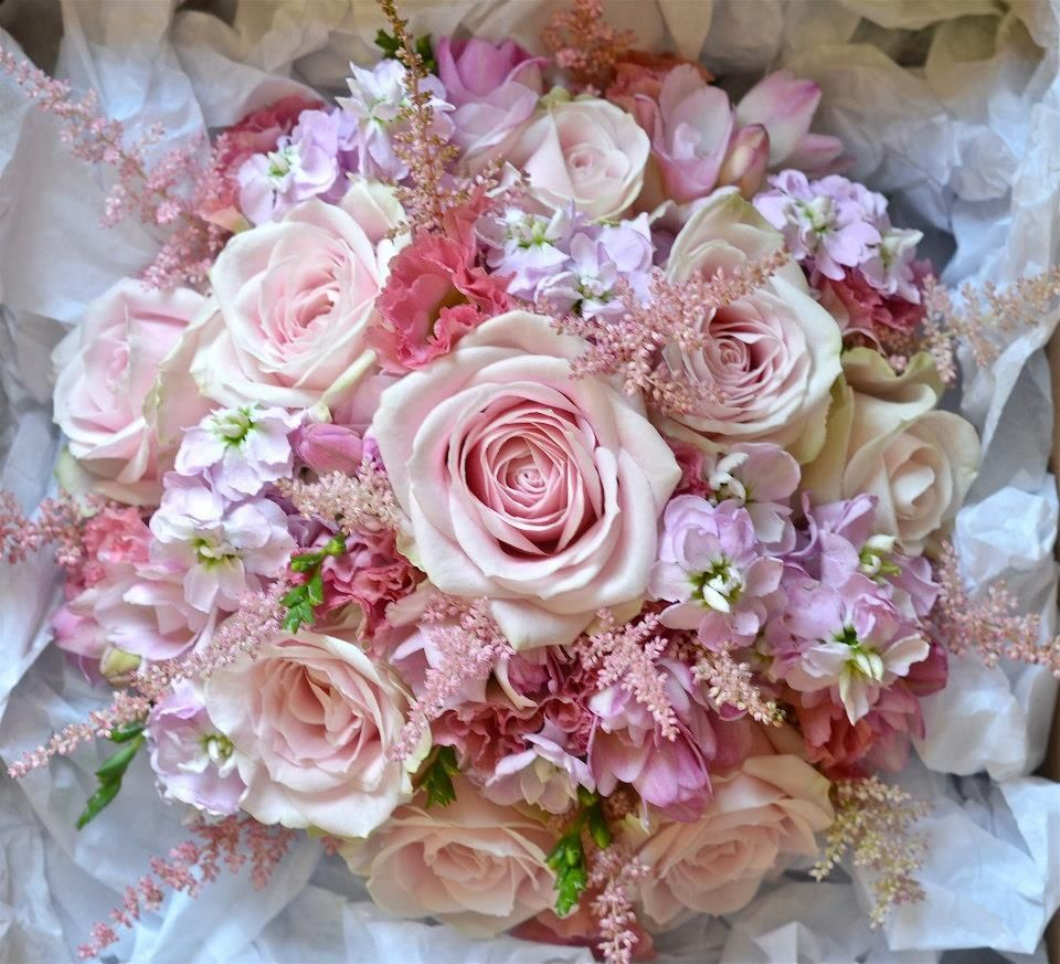 Fiori by lynne pinterest flowers big rose bouquet pink lilac creams blush i love this one izmirmasajfo