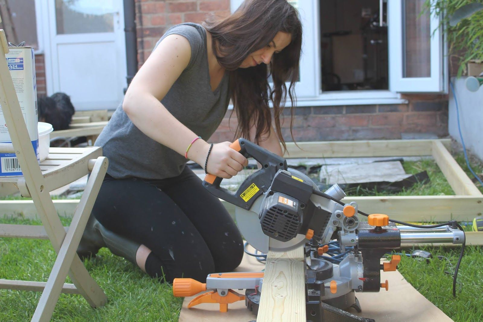 Diy how to build decking with scaffold boards with images