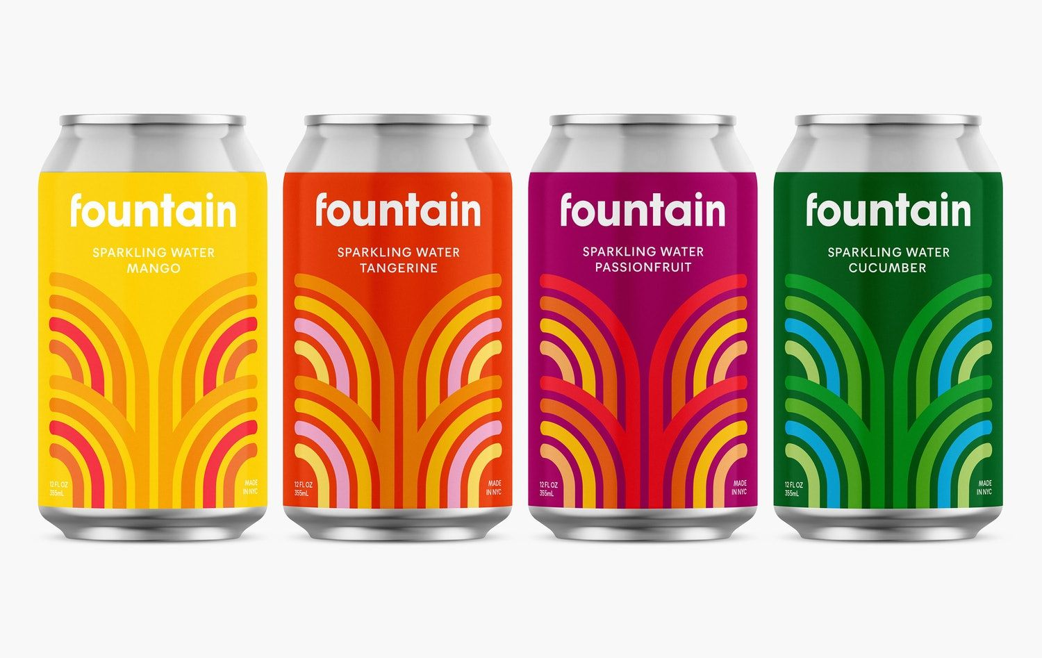 Pentagram Helps Elevate Cbd Sparkling Water Brand Fountain Dieline In 2020 Water Branding Sparkling Drinks Sparkling Water