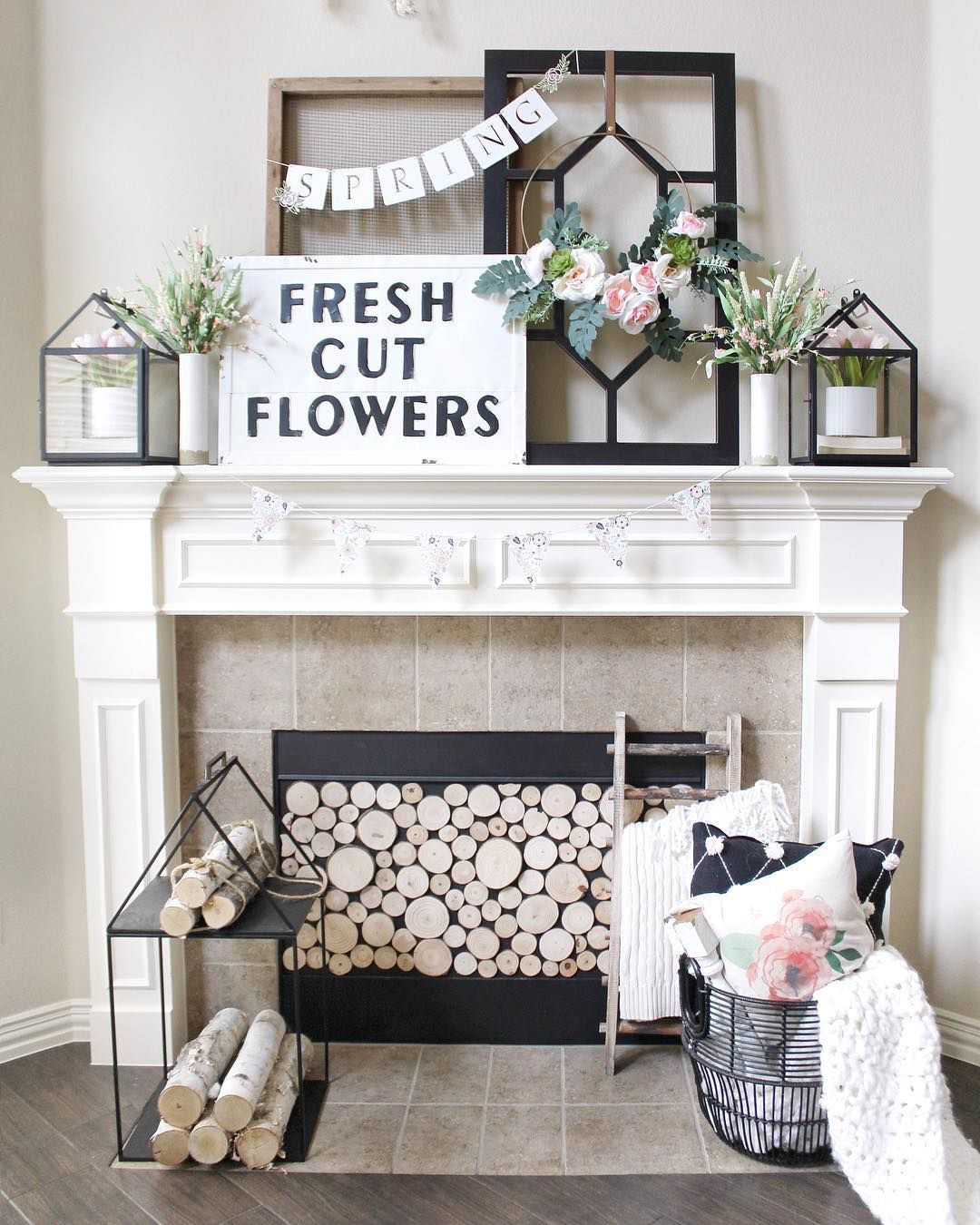 Styling Your Mantel For Every Season Decor Steals Summer Mantle Decor Fireplace Mantle Decor Mantle Decor