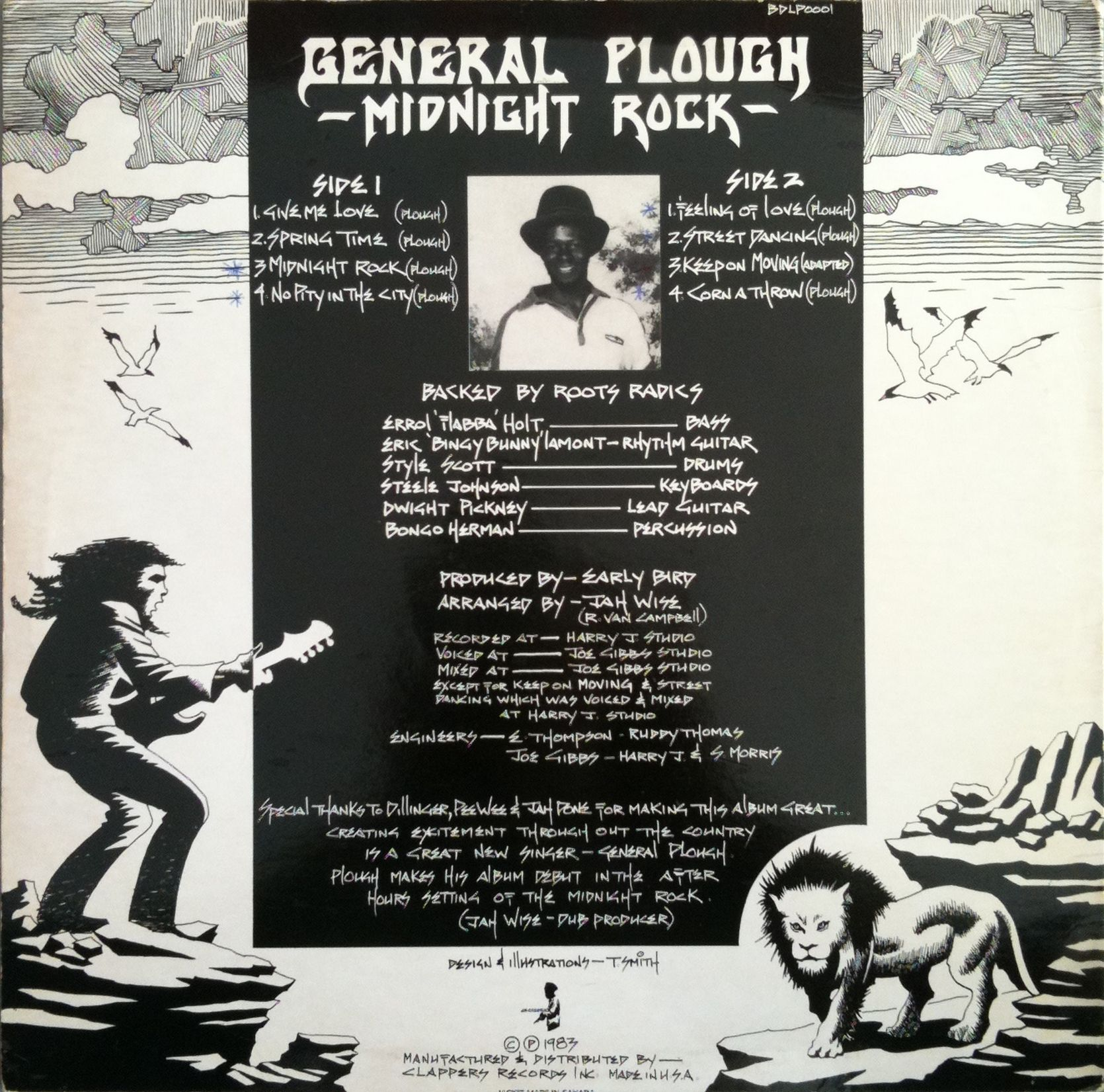 General Plough - Midnight Rock (back cover)