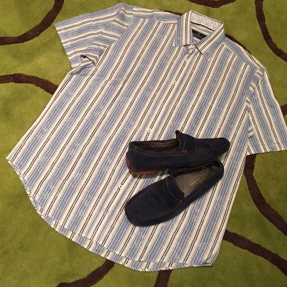 Bugatchi short sleeve shirt Good condition 100% cotton. Bugatchi Uomo Shirts Casual Button Down Shirts
