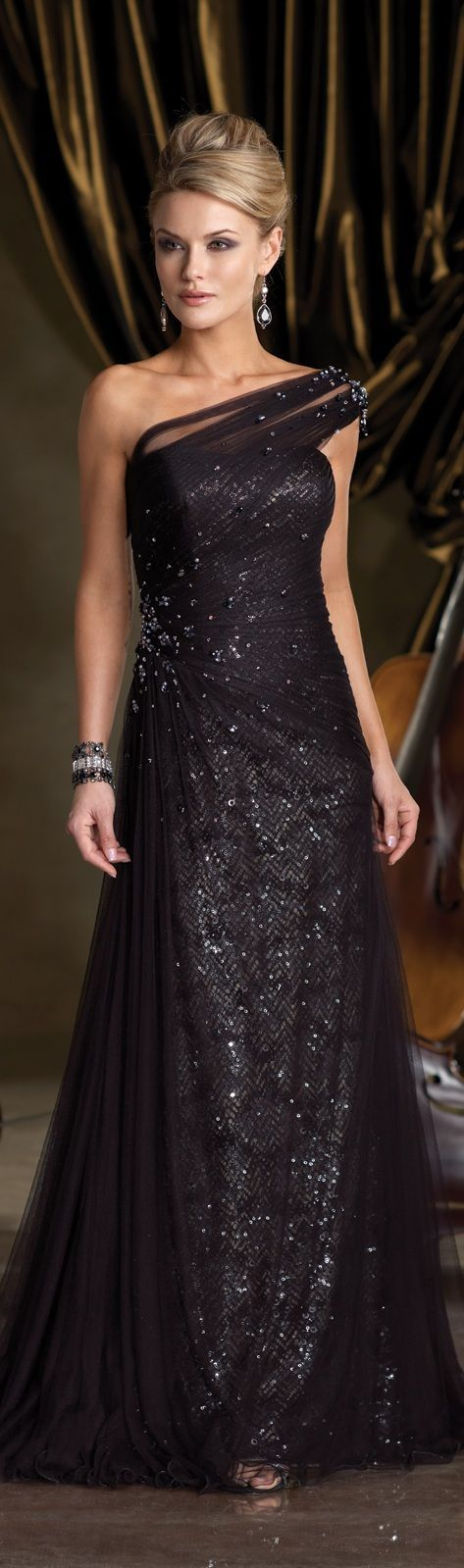 Formal Black Tie Gown   Goddess attire   Pinterest   Black tie gown ...