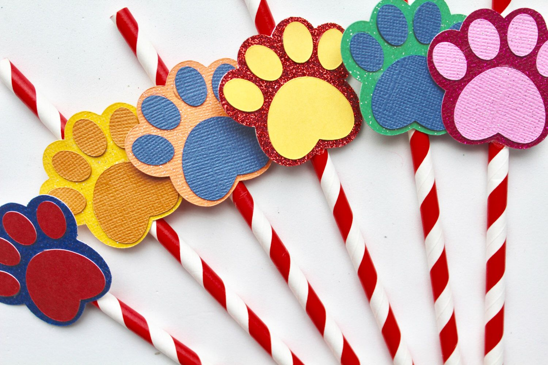 10 paw patrol straws  puppy partylittleblondebrooke