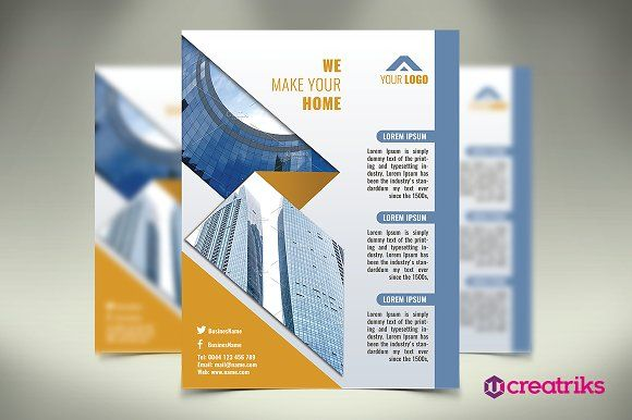 Architecture Flyer By Creatricks On Graphicsauthor  Templates