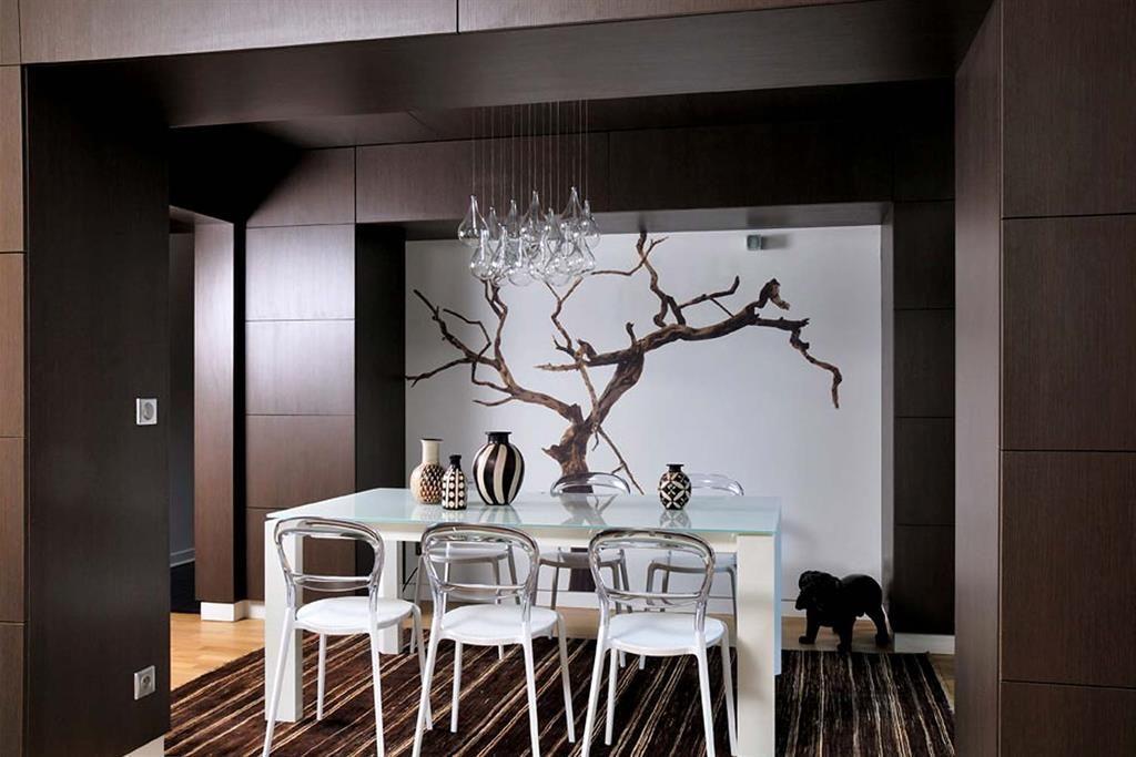 papier peint panoramique pour mettre en valeur une salle. Black Bedroom Furniture Sets. Home Design Ideas