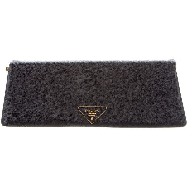 Prada Pre-owned - Leather clutch bag