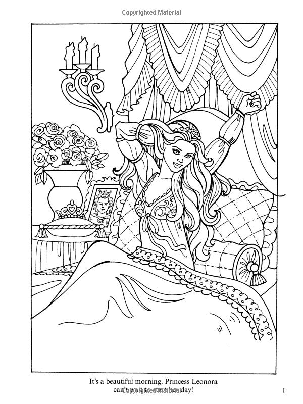 Dover Publications On Amazon Princess Leonora Coloring Book Eileen Rudisill Miller
