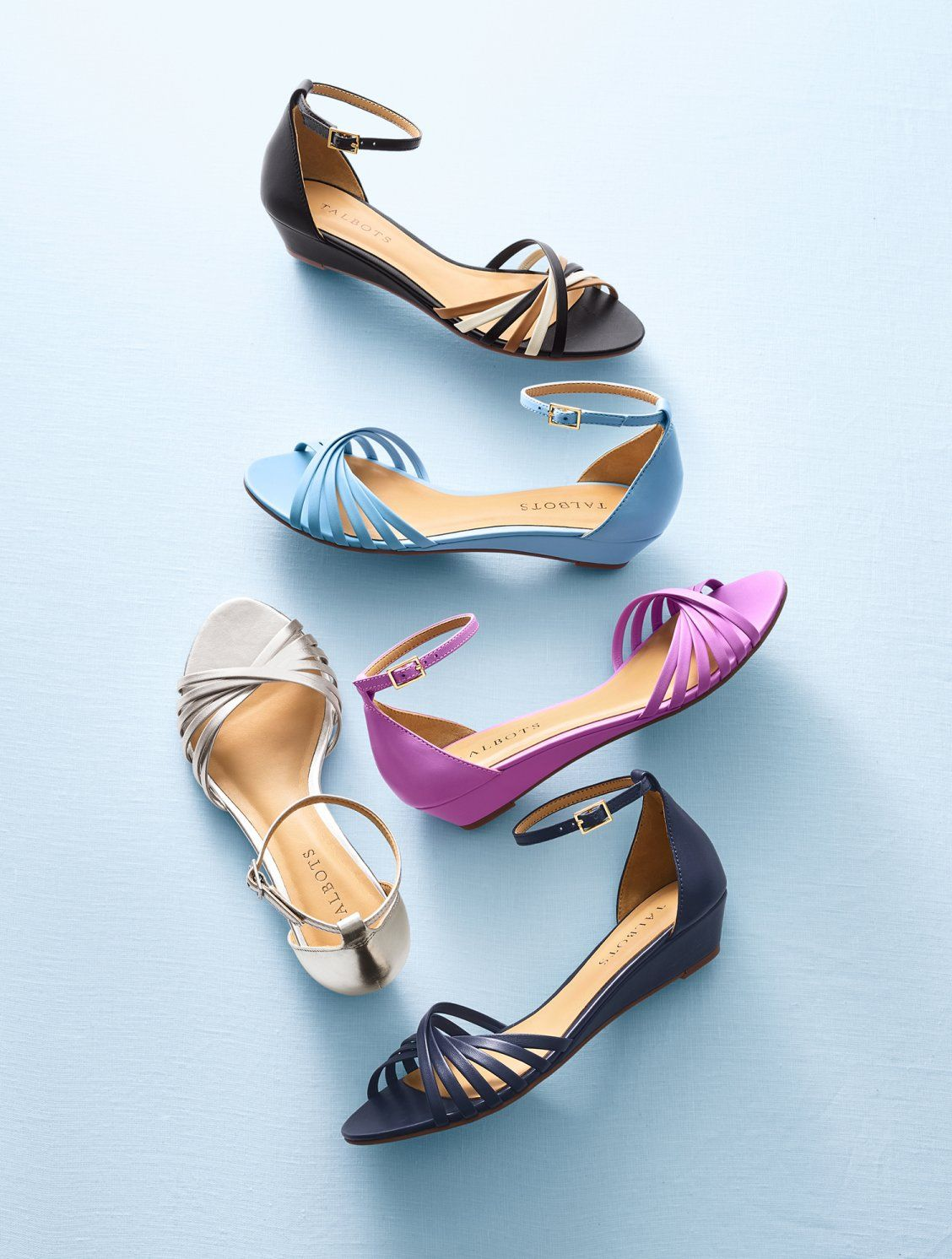 e9442ad22ff Our Capri Wedge Sandal - with a twist! With a comfortable low wedge heel and