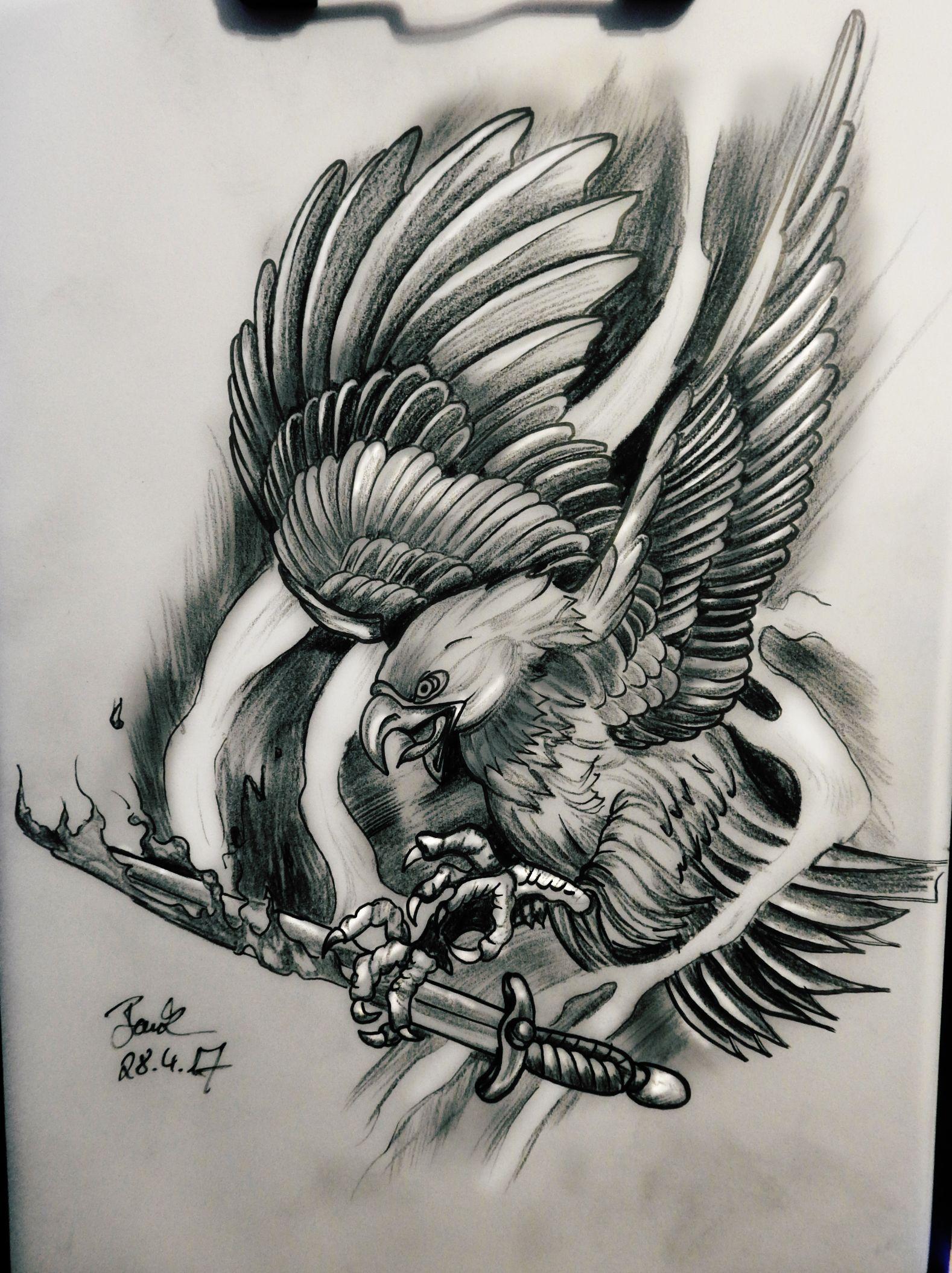 tattoo #design #adler #eagle #sword #schwert | Tattoos | Pinterest ...