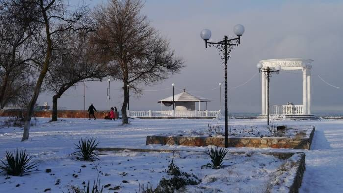 Ротонда, парк, январь 2016