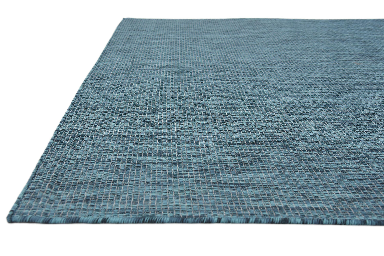 Teal 6' x 9' Outdoor Solid Rug | Area Rugs | eSaleRugs