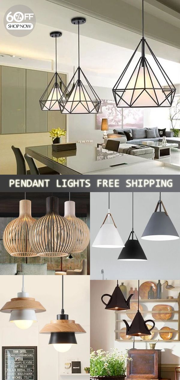 Pendant Lamp Light, Iron Frame Pendant Lights For Kitchen Island Dining Room Home Decoration Luminai