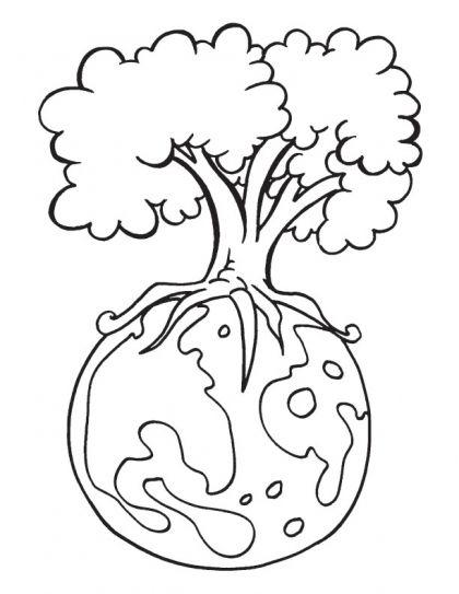 Earth Day Coloring Pages Terra Desenho Desenhos Do Meio