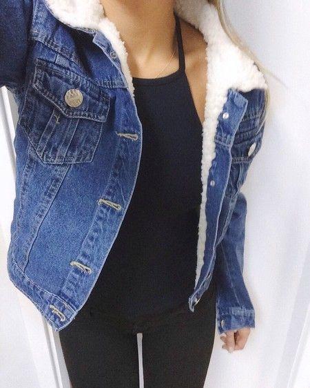 Jaqueta jeans com forro de pelinho - Wild Style  4b3335c72b5