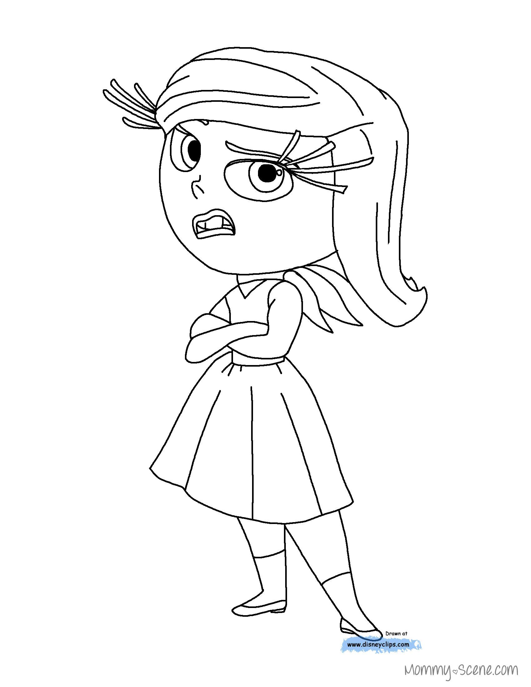 disneys inside out coloring pages mommy scene - Coloring Page Inside Out
