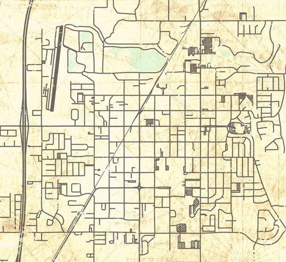 REXBURG ID Canvas Print Idaho Id Vintage map Rexburg Id Vintage Town