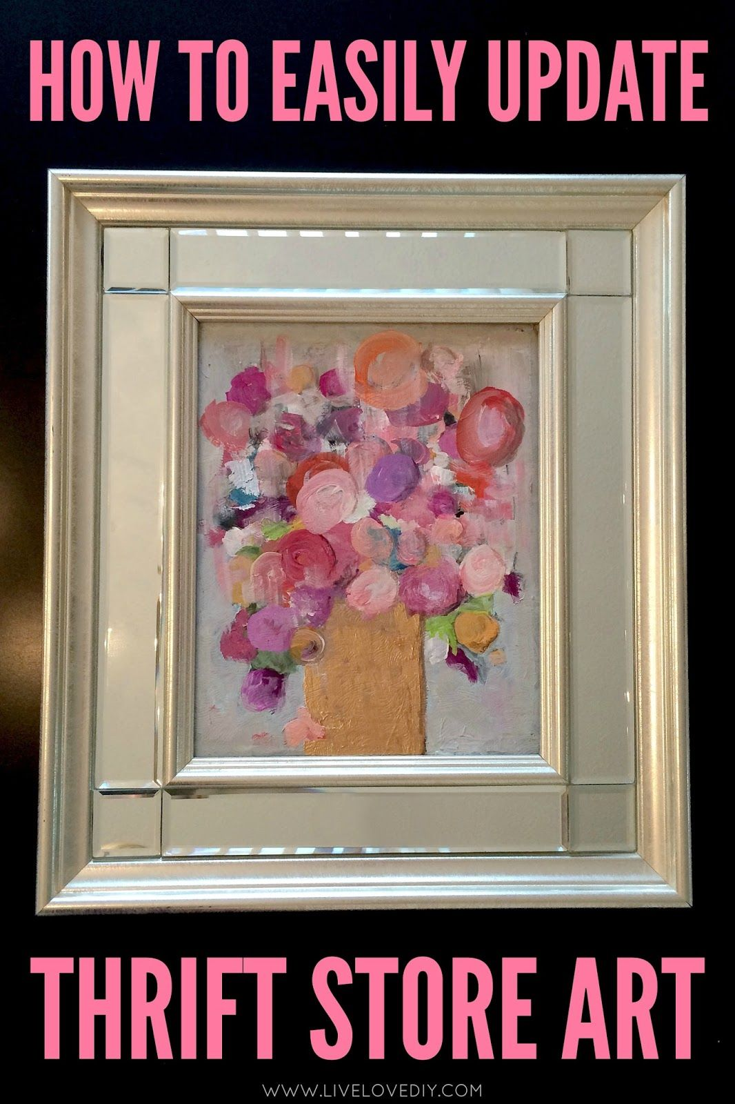 How to easily update thrift store art love this idea art