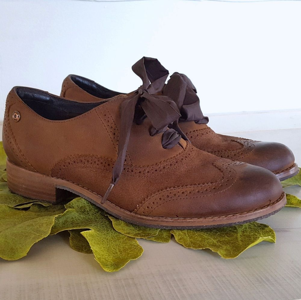 8d1b2679791b7 Sebago Womens 7 Oxford Shoes Brown Distressed Leather Claremont ...