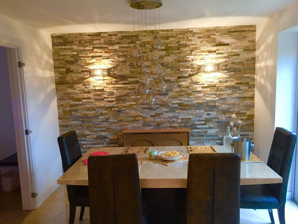 Splitface Tiles With The Same Bedside Lights We Have Love