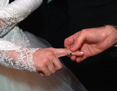 Giving Of The Ring Which Goes On The Right Index Finger During The Ceremony So It May Be Witnessed As The G Jewish Wedding Rings Jewish Wedding Modest Wedding