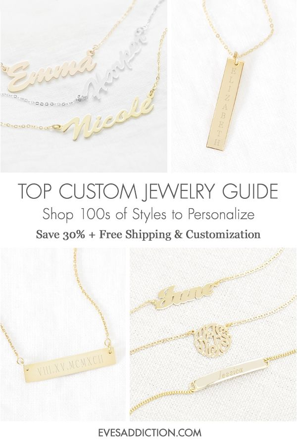 a785a029c Create the perfect custom gift for any occasion with one of Eve's  Addiction's stylish personalized jewelry