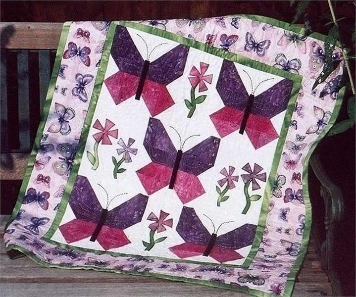 Butterfly Garden Quilt Pattern TPQ40 Quilting Pinterest Fascinating Butterfly Quilt Pattern