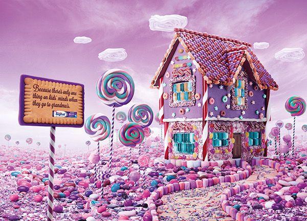 Candy House 食べ物 イラスト チャーリーとチョコレート工場 お