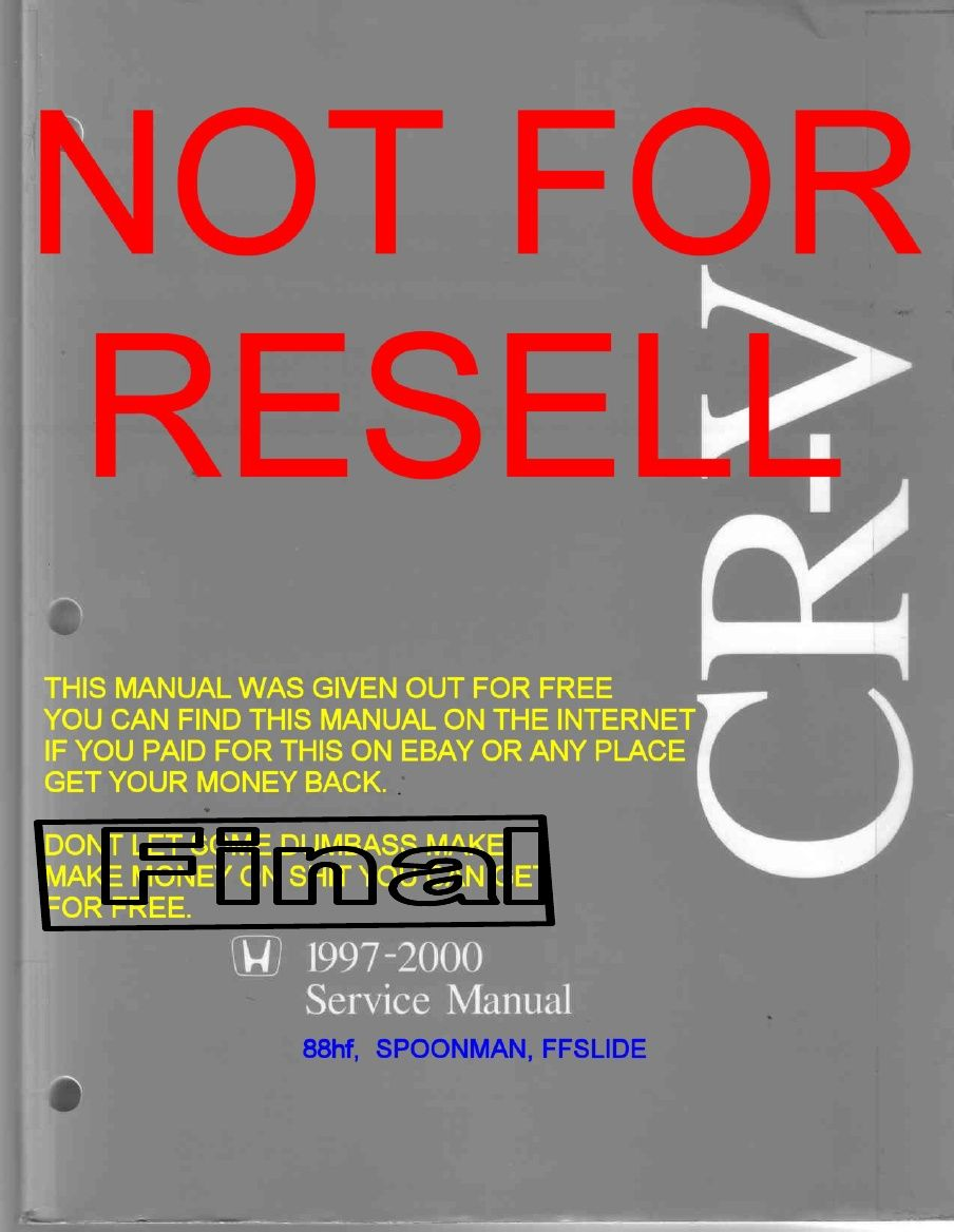 Gen1 97-00 CRV service manual