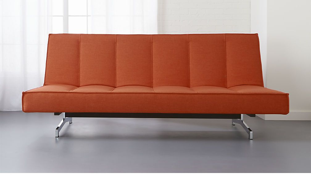 Modern Day Bed Ideas Flex Orange Sleeper Sofa From Cb2 Officefurniture Guestbed