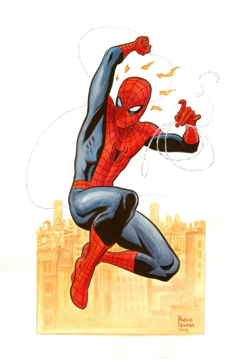 #Spiderman #Fan #Art. (Spider-Man) By: Paolo Rivera. (THE * 5 * STÅR * ÅWARD * OF: * AW YEAH, IT'S MAJOR ÅWESOMENESS!!!™)[THANK Ü 4 PINNING!!!<·><]<©>ÅÅÅ+(OB4E)
