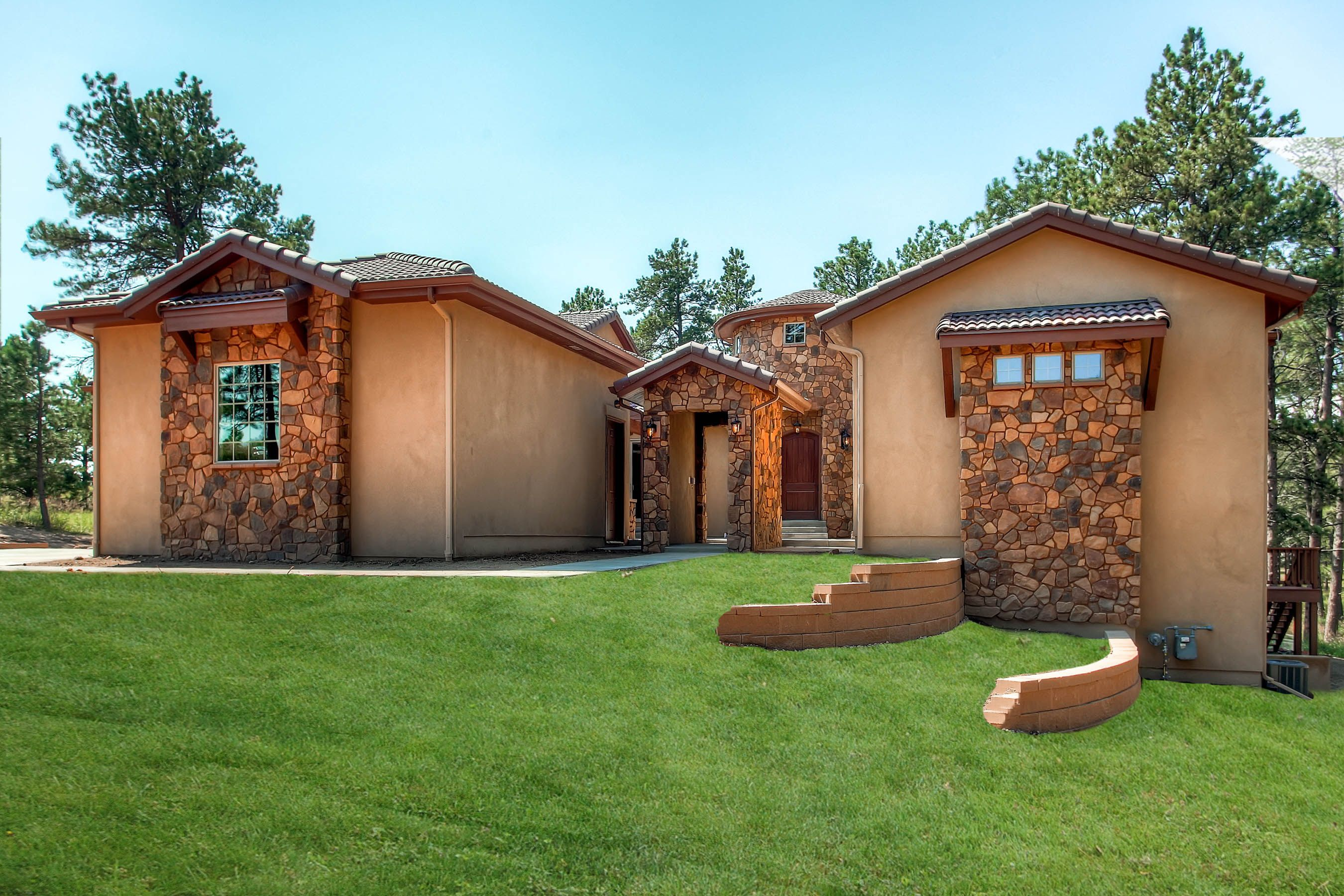 One of a kind ranch design with front courtyard