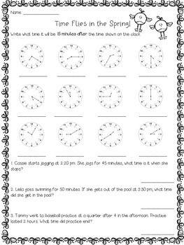 Spring Math Practice (3rd grade) Math practices, Math