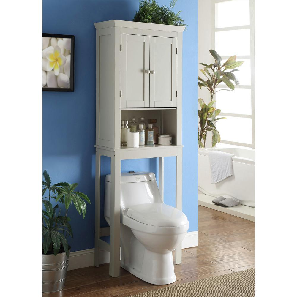 4d Concepts Rancho 23 6 In W Space Saver Cabinet In Vanilla Cappuccino 90621 The Home Depot Bathroom Space Saver Over The Toilet Cabinet Toilet Storage