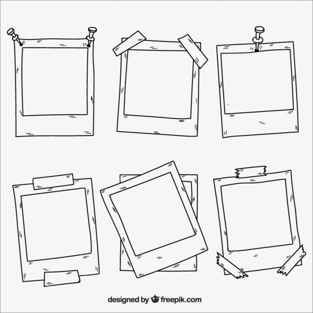 Download Collection Of Hand Drawn Photo Frames for free