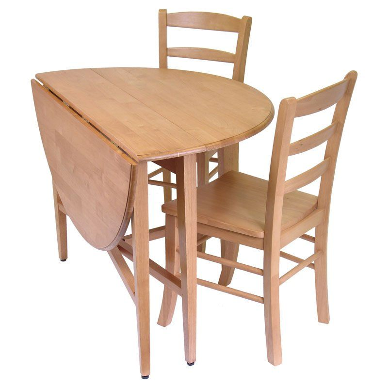 3 Piece Dining Set Drop Leaf Table With 2 Chairs Dining Table