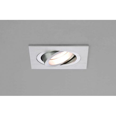 Astro lighting taro square single light adjustable halogen recessed astro lighting taro square single light adjustable halogen recessed ceiling fitting in brushed aluminium finish aloadofball Image collections