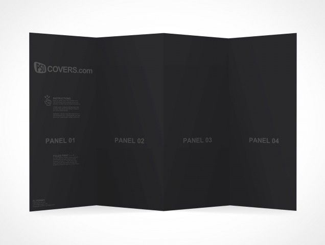 PSD Mockup Template 4 Panel Accordion Flyer Brochure | Recursos ...