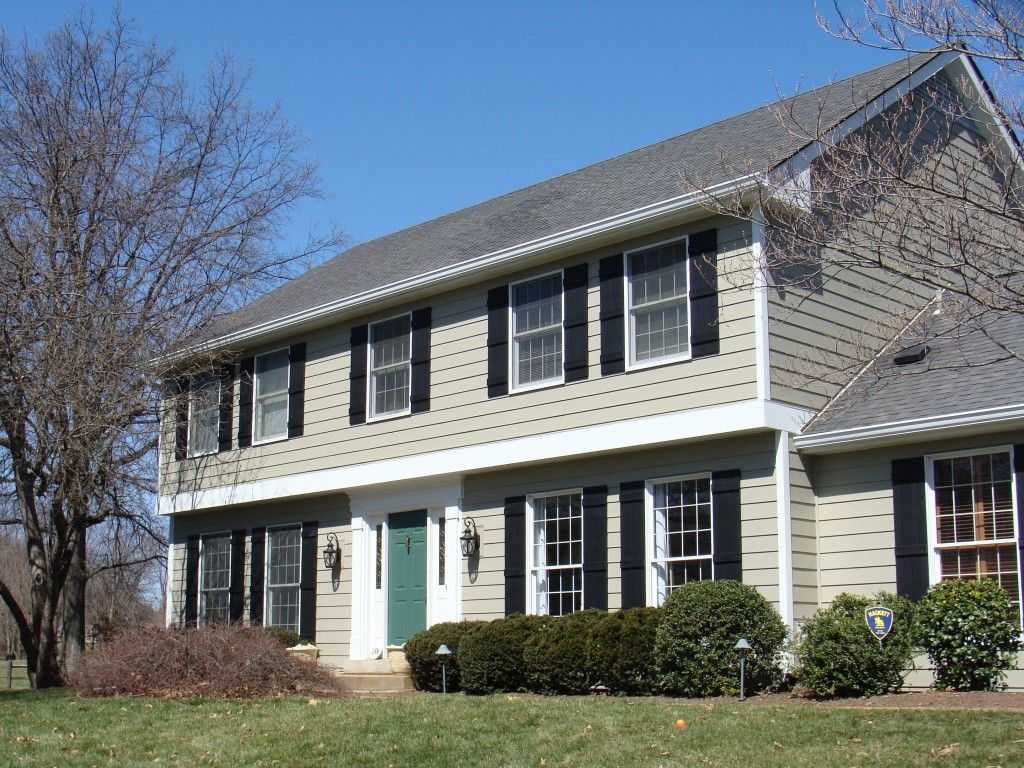 James Hardie Siding Monterey Taupe  Inch Lap Arctic White Trim - Exterior hardie board