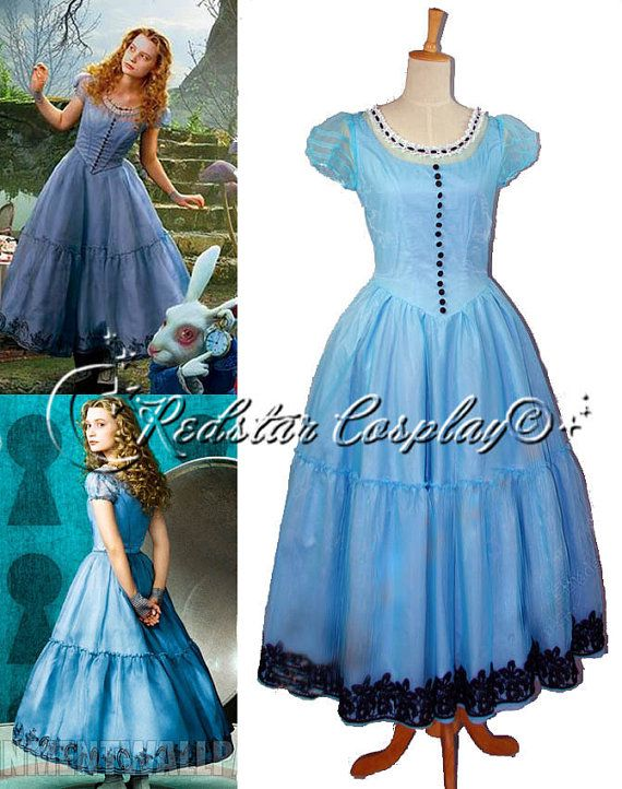 35d297933533 Alice in Wonderland Alice Disney Princess Evening Party Dress Cosplay  Costume made in Any size