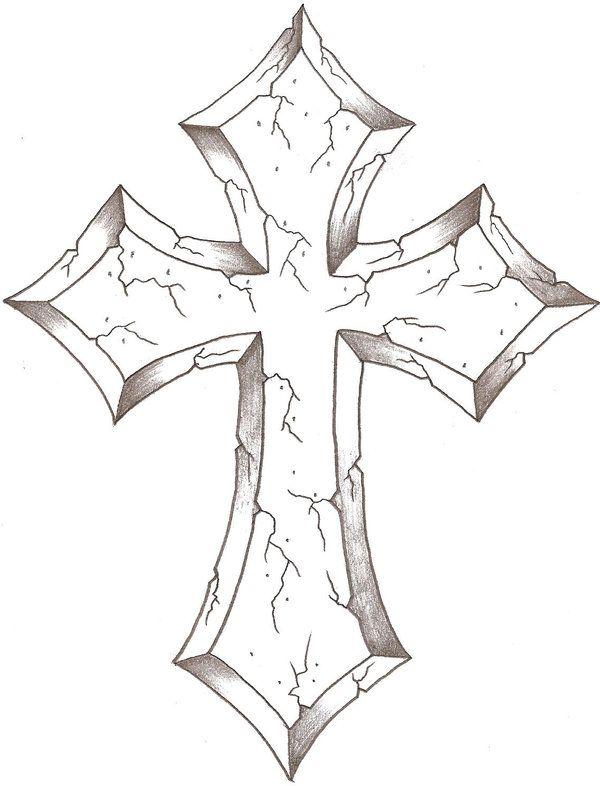 cross drawings on Pinterest   Cross Tattoos, Cross Tattoo ...