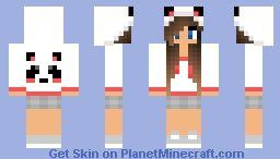 Cute Girl With Panda Hoodie Minecraft Skin Minecraft Skins Girl