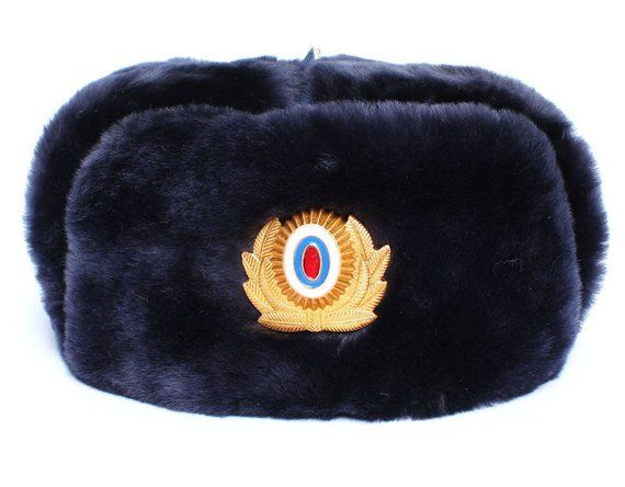 fafbefc98d73ed Russian Police Officers sheep fur USHANKA winter hat | Products ...