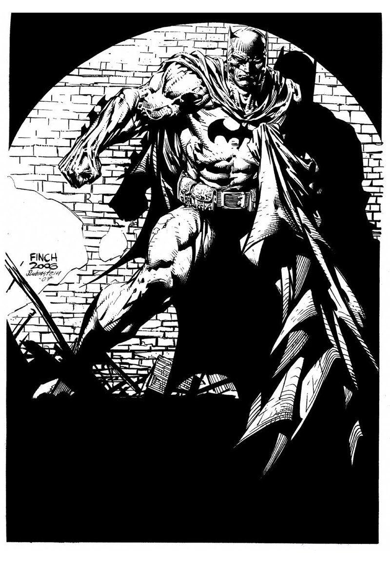 David Finch - Batman inked