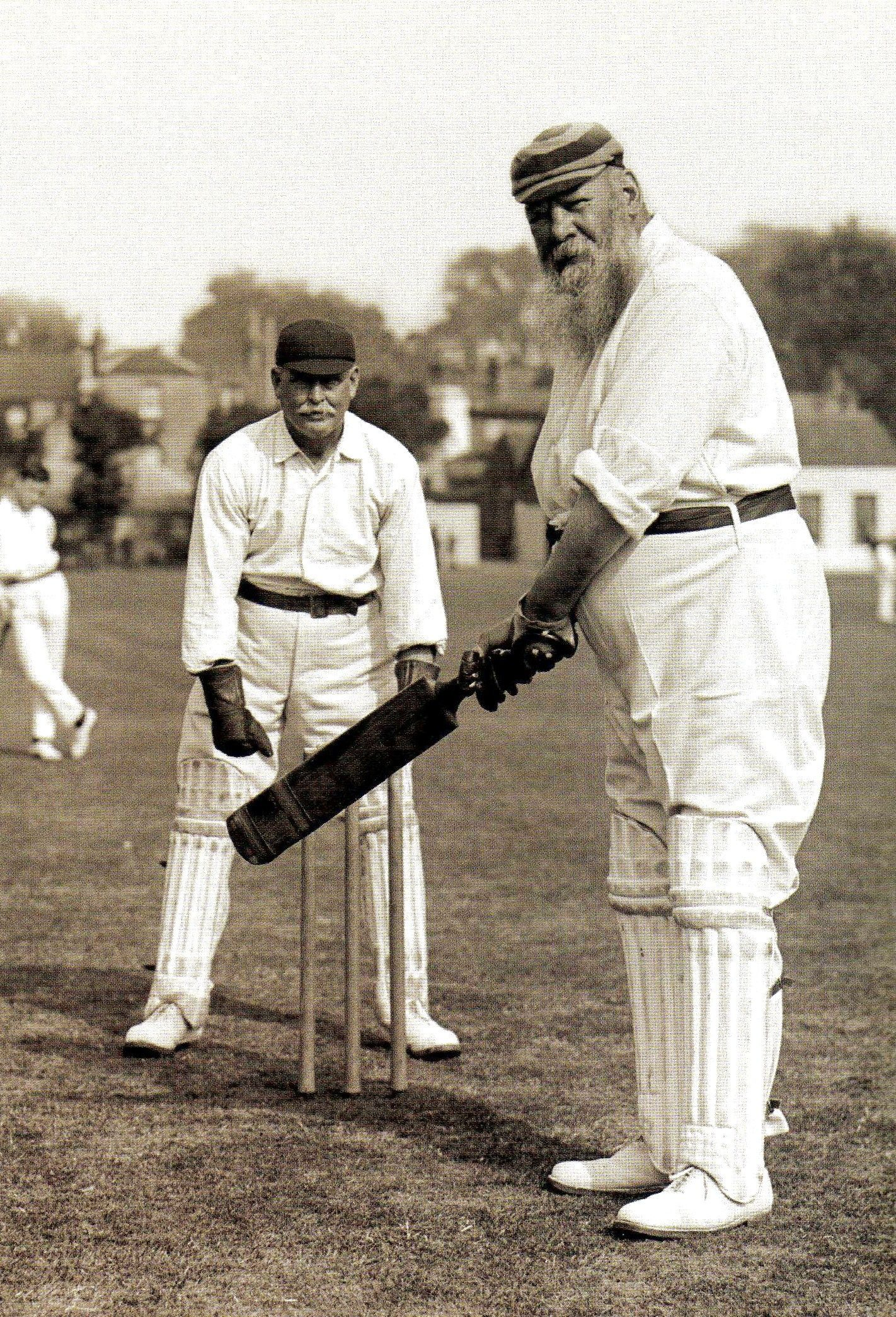 The cricketer W G Grace. He played in the first Test match