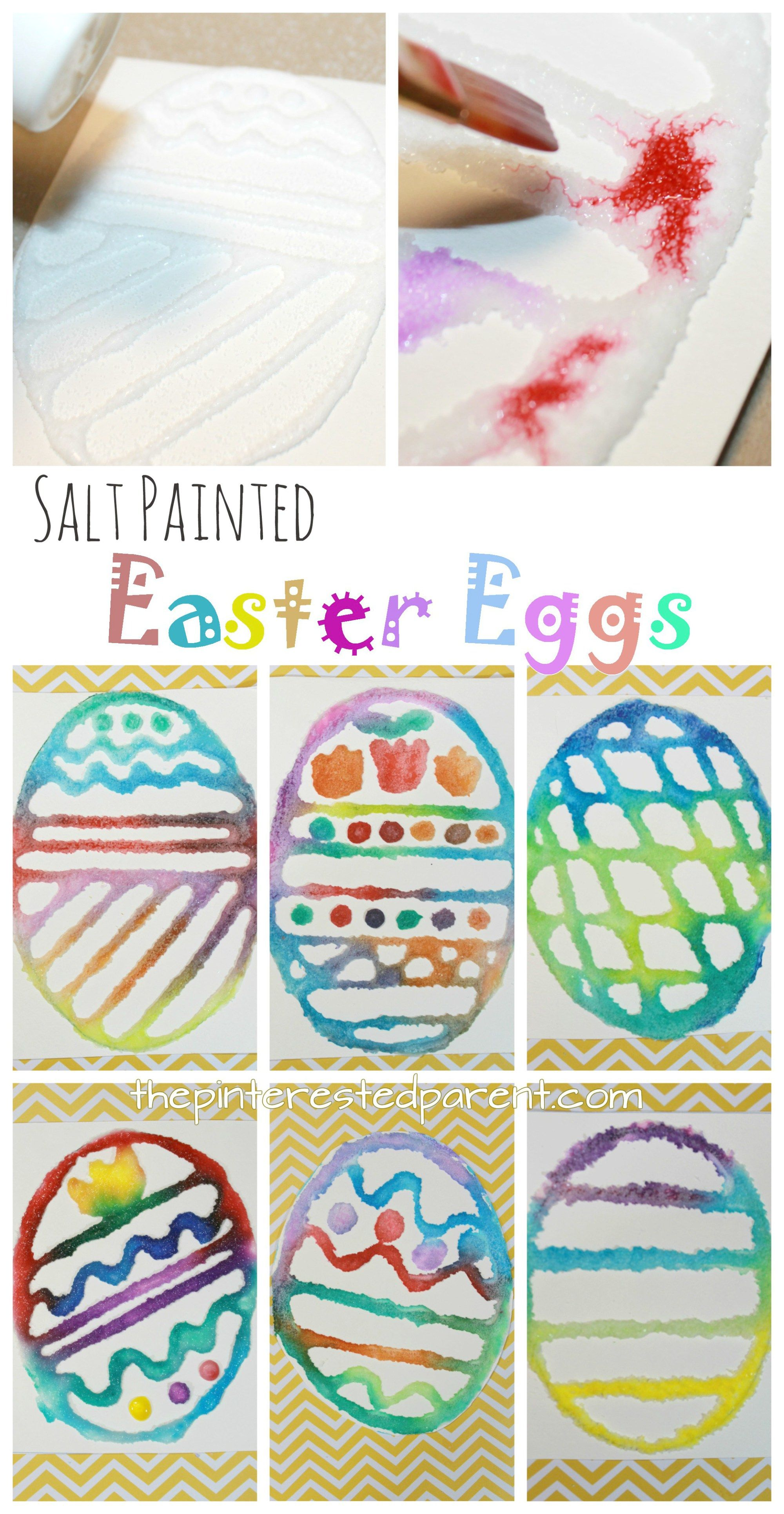 salt painted easter eggs with printable template spring and easter