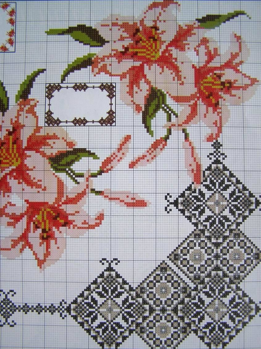 UZ-8 Cross stitch Easter Pattern Napkin Tablecloth Ukrainian DMC Embroidery